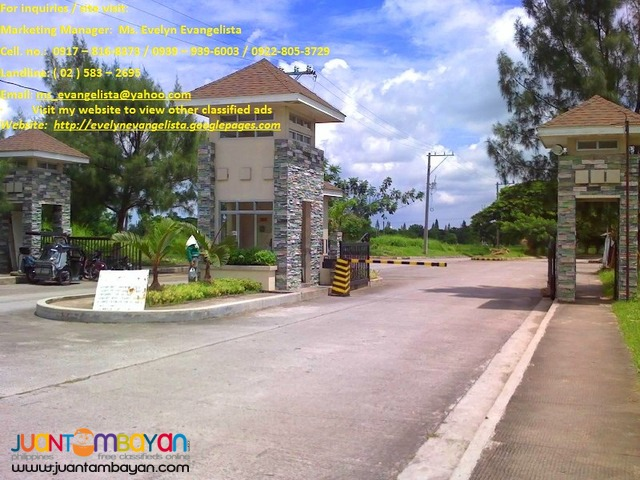 Res. lot for sale in Sto. Tomas Batangas Ponte Verde