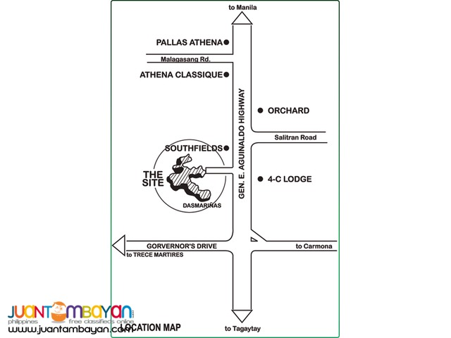Res. lot for sale in Dasmarinas Cavite Southplains
