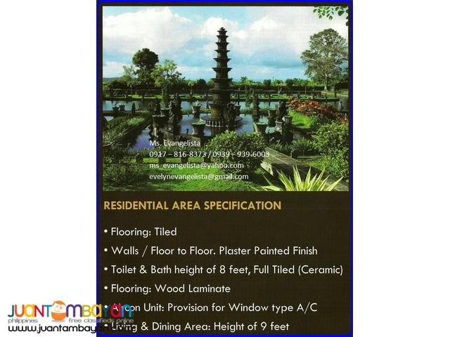 Condominium in Bali Garden Residences Studio Type