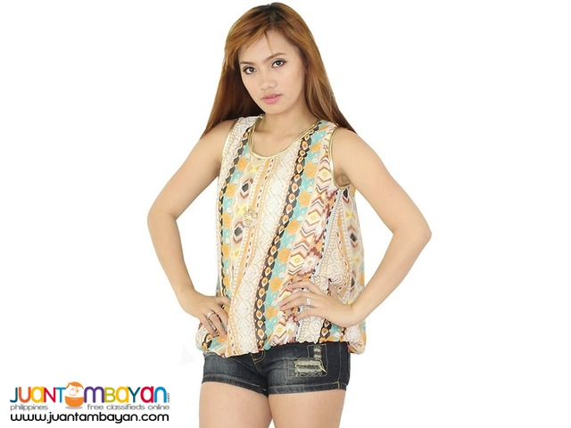 PRINTED BLOUSE  Reference: AU037