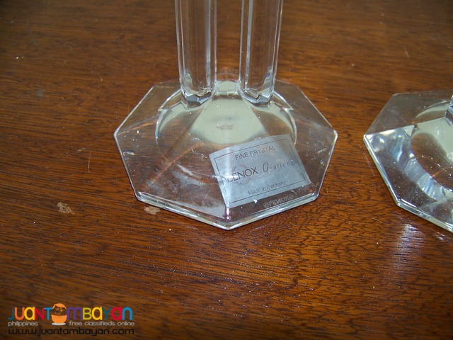 P1006 Crystal Candle Holder. 1 Pair.