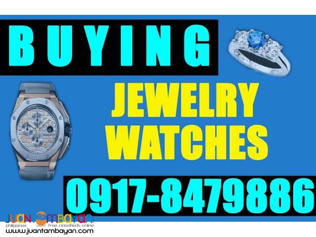 WE BUY ALL KINDS OF JEWELRY & WATCHES. INSTANT CASH! (02) 6241680