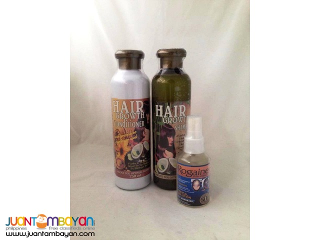 Hair Grower Package Shampoo, Conditioner and Rogaine