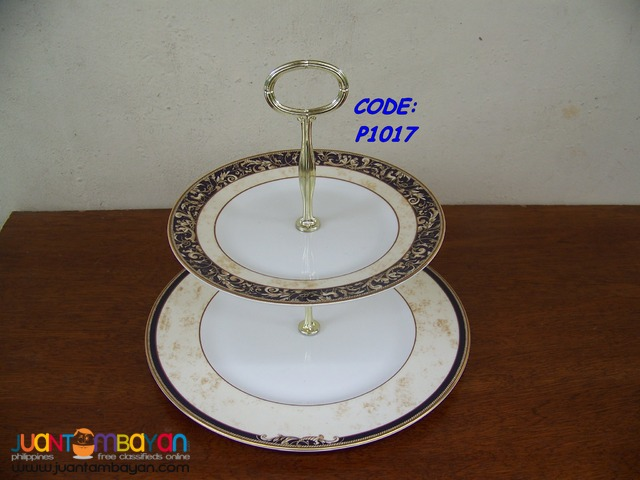 P1017 Two Tier Service Plate. Wedgwood, Made In England.