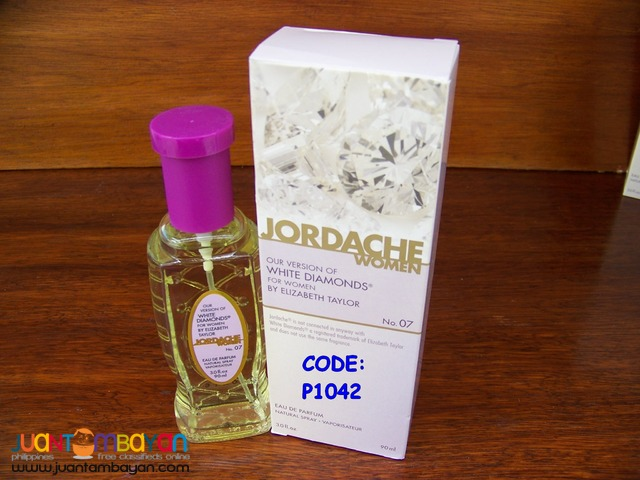 P1041 White Diamond of Elizabeth Taylor by Jordache Parfum for Women
