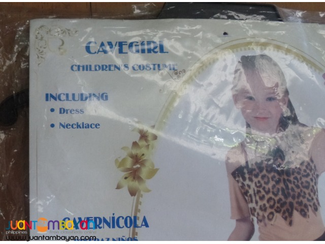 Cavegirl or Prehistoric Costume for girls (5-6yo)