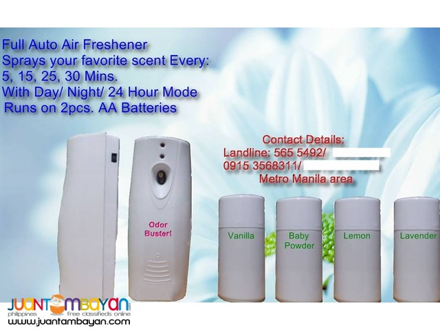 Automatic Air-freshener Dispensers; with CE marking of durability