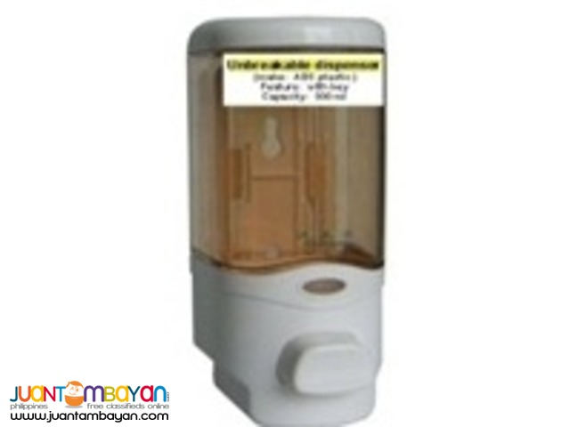 Manual / Push-type Dispensers for hand-soap or sanitizer; 300ml