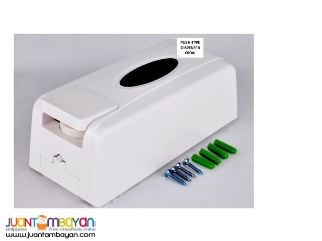Push-type dispensers for hand-soap, alcogel or alcohol; 600ml
