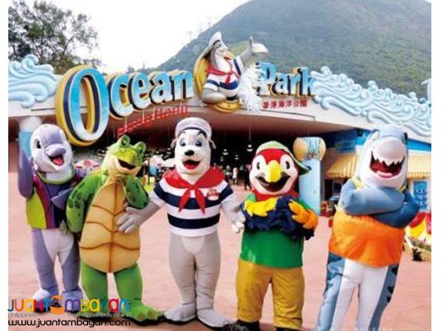4D3n Hong Kong Free and easy + Disneyland + Ocean Park Tour Package