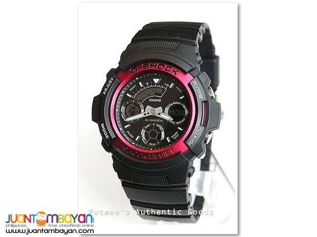 Casio G-Shock Ana-Digi Neobrite Red Bezel Watch AW591-4A
