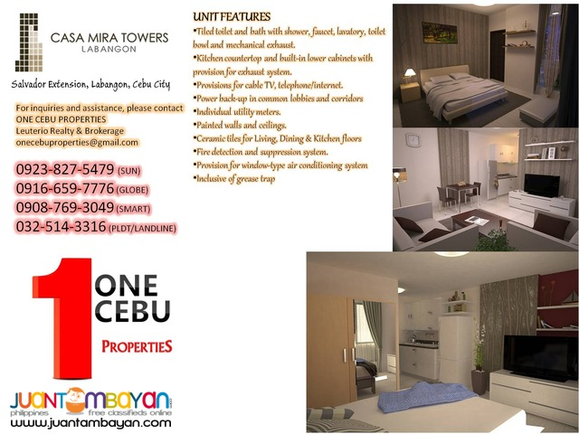 CASA MIRA TOWERS @ ₱ 5,916.17/month!