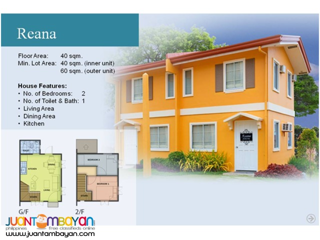 Camella Homes - Reana House and Lot Model