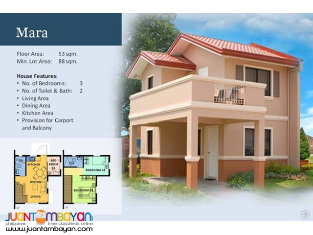 Camella Homes - Mara House and Lot Model