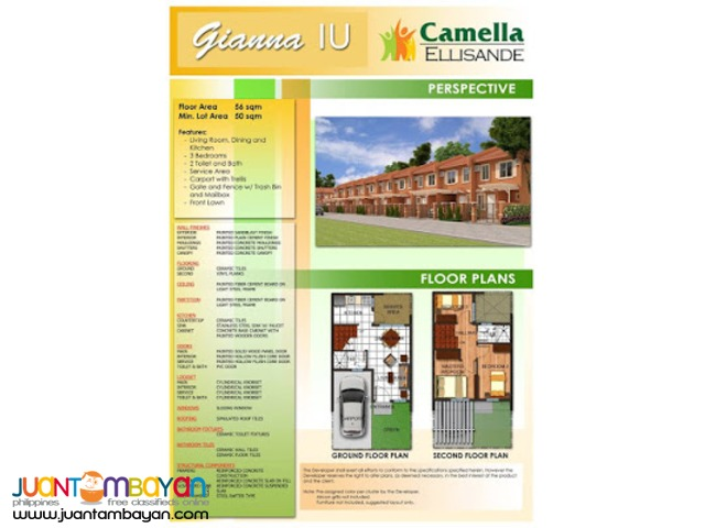 Camella Ellisande - Guiana House and Lot Model