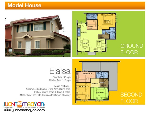 Camella Homes - Elaisa House and Lot Model