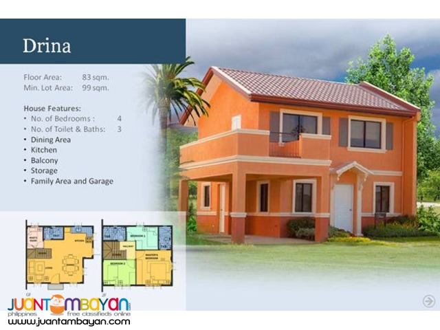 Camella Homes - Drina House and Lot Model