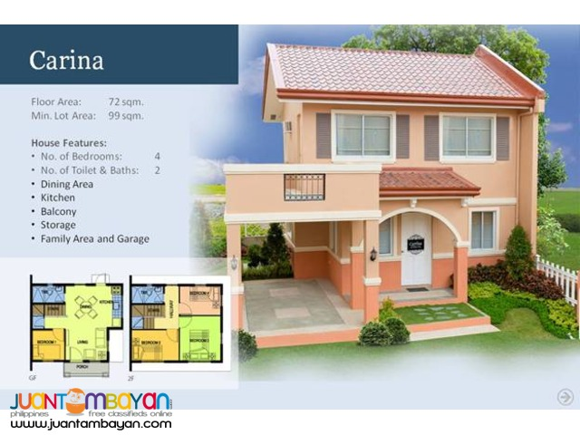 Camella Homes - Carina House and Lot Model