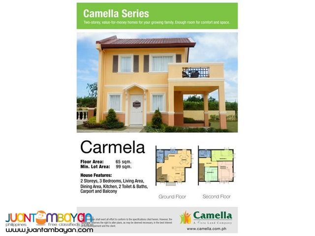 Camella Homes - Carmela House and Lot Model