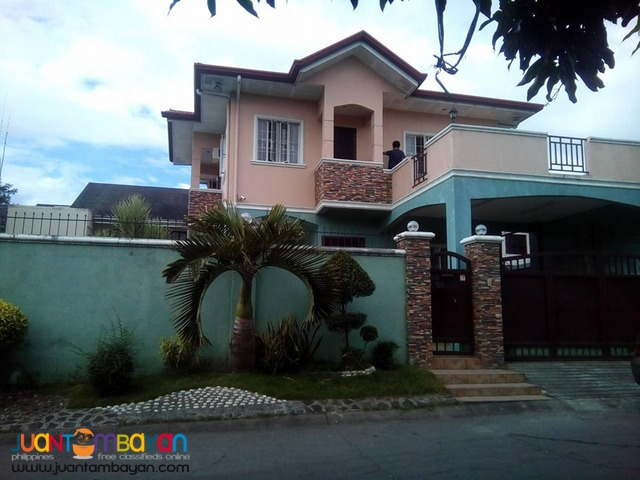 House and Lot in Bf Resort Village Las Pinas Corner Lot with Pool