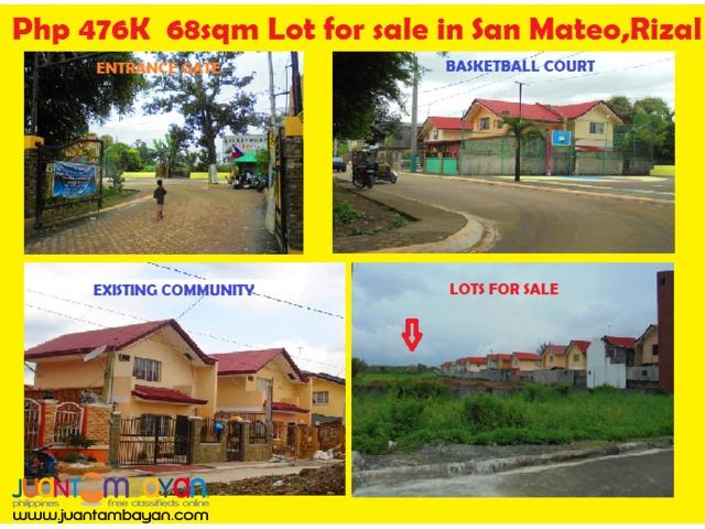 75sqm Capili Lot for sale San Mateo,Rizal near Marikina City