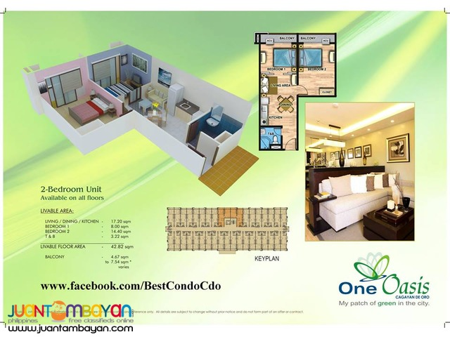 One Oasis Condominium near Lim Ketkai Center Cagayan de Oro