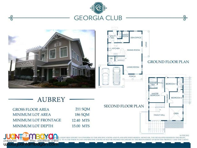 Georgia Club by Brittany House and Lot for Sale