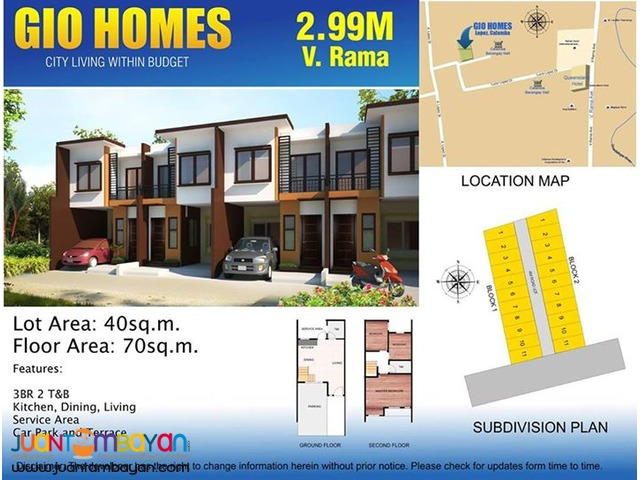 Affordable Townhouse in V.Rama Cebu City 15k a Month