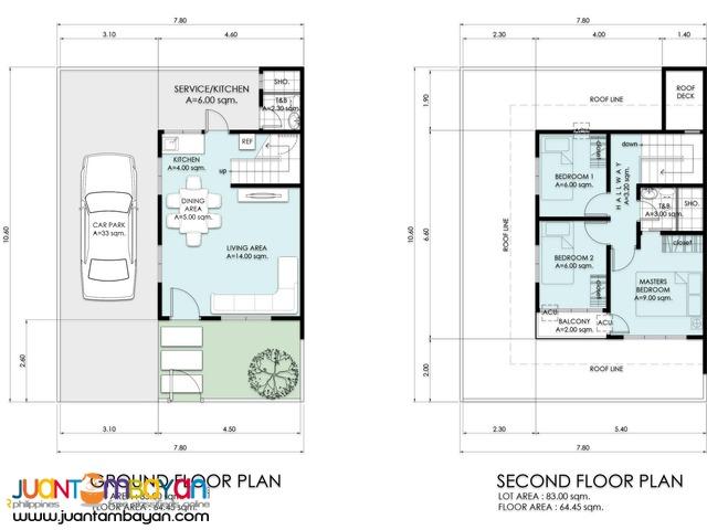 77 Living Spaces Subdivision Duplex Model