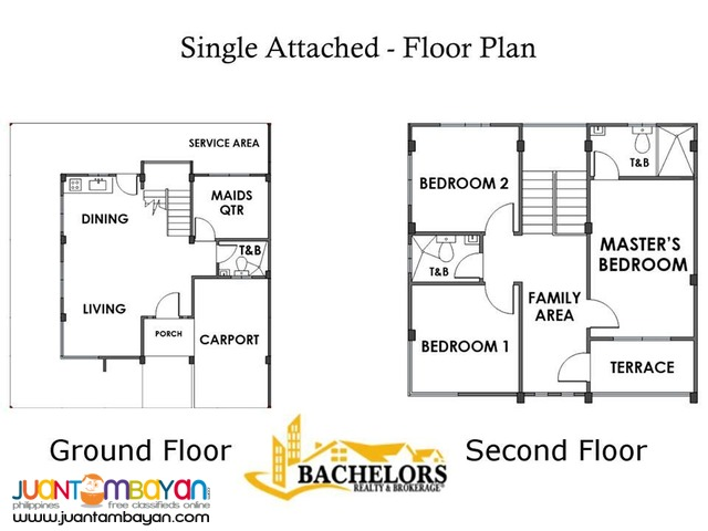 Single attached house and lot with 3 bedrooms for sale