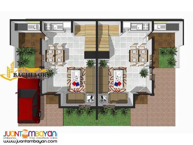 for sale 3 bedrooms duplex house and lot in dumlog talisay