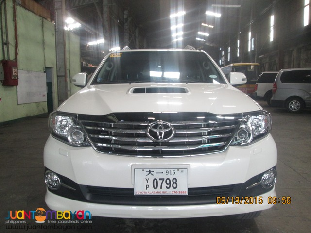Rent a Car Services (Fortuner)