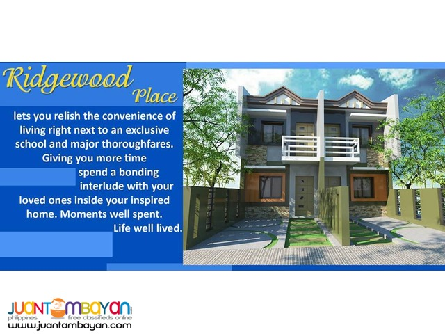 Townhouse Package 4 sale in Antipolo City for Sale ( Ridge Wood )