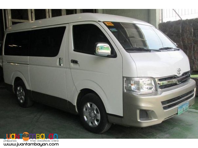 Toyota Hi-ace Grandia for rent
