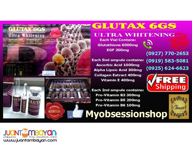 December Promo - Glutax 6GS Ultra Whitening