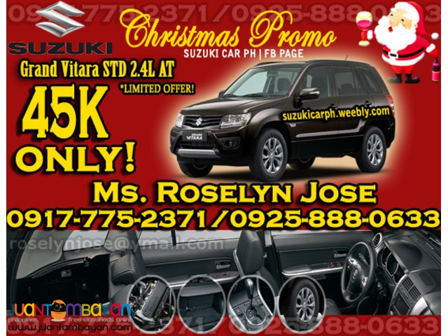 SUZUKI GRAND VITARA STD 2015 for only 45k all in promo