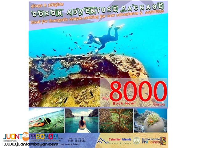 4 Days & 3Nights Coron Adventure Package