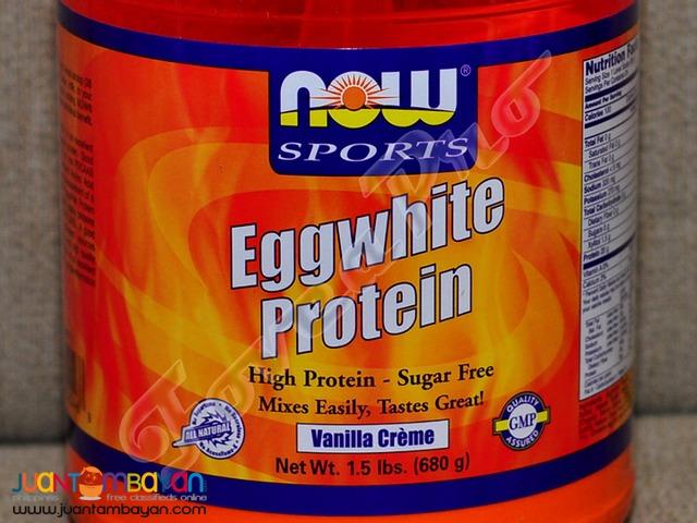 NOW Egg White Protein Powder, 1.5 lbs. Vanilla Creme (Sugar Free)