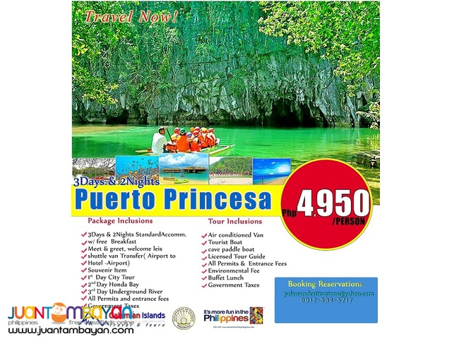 Puerto Princesa in 3 days and 2 nights stay.