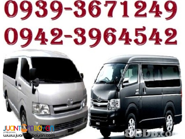 TJ RENT A VAN any point of Luzon