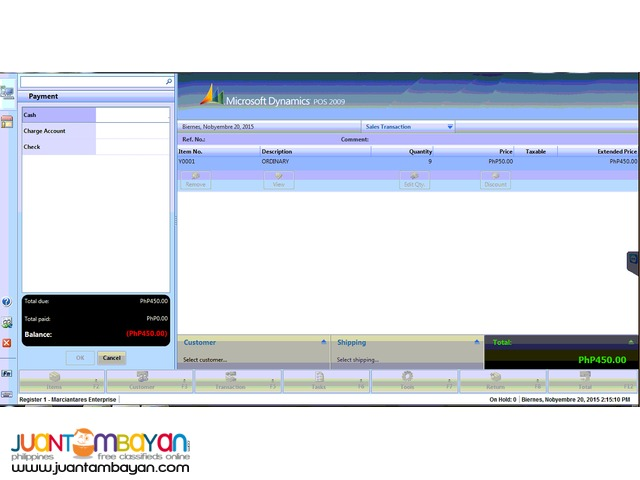 Point of sale system Inventory System Software Only