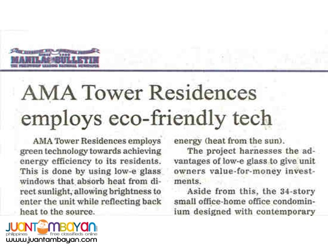 AMA Tower in Mandaluyong near Valle Verde