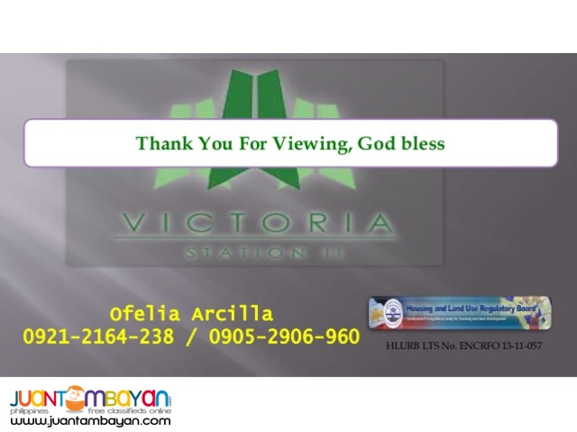 Victoria Sports Tower station 2 - Pre Selling/Rent to own