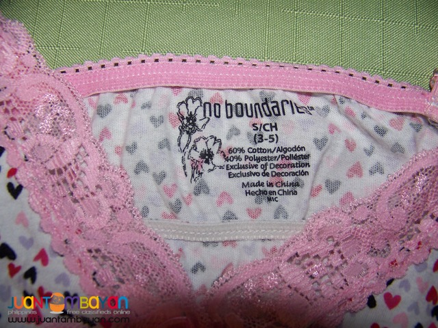 Pre-Loved LNI8102 No Boundaries Nightees. Bought in USA.Made in China.
