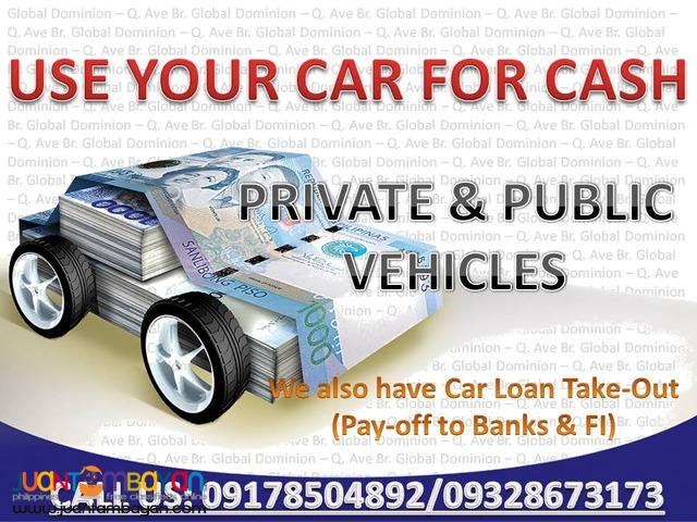 Sangla OR/CR Private o Public Vehicle
