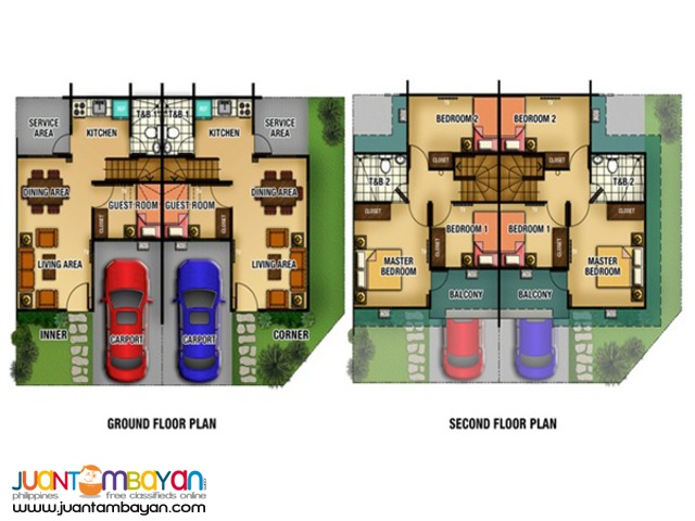 4 bedroom house with 2 toilet and bath for as low as 1.8M near MOA