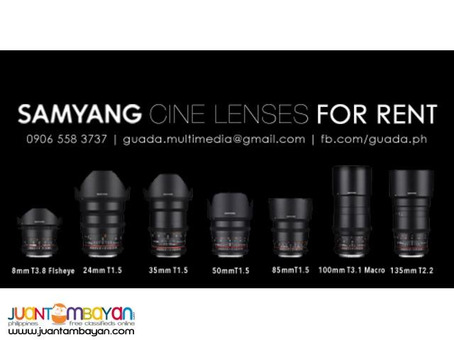 For Rent: Sony a7S | Atomos Shogun | Samyang Cine Lenses