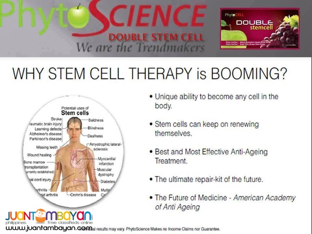doublle stemcell for younger skin and healthy body