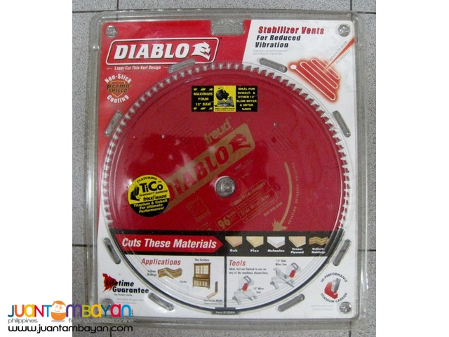 Freud D1296N Diablo 12 in x 96 tooth TCG Saw Blade with 1-inch Arbor