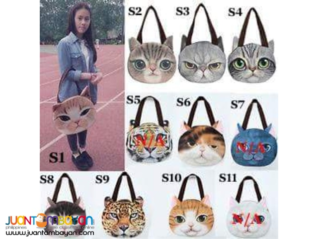 3D Cat Printed Shoulder Bags w/ FREE coin purse
